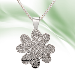 Shamrock Fingerprint Jewelry Pendant